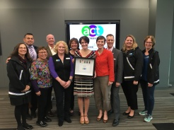 ACt board with Champion for Kids Heather Harris