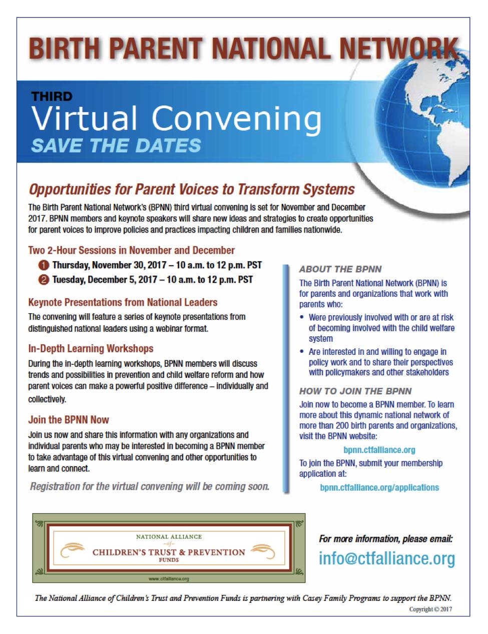 BPNN virtual convention